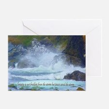 Peace from the storm Greeting Card