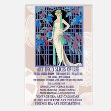 1 A V BARBIER ROSES NUIT  Postcards (Package of 8)