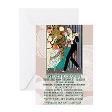 1 A BARBIER LA DANSE ArtDecoSlicesOf Greeting Card