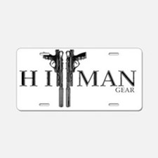 New HitMan Gear Logo Crome Aluminum License Plate