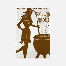 witch with toil pot Rectangle Magnet