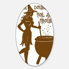 witch with toil pot Decal