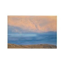Potts range. Sunset over high cou Rectangle Magnet