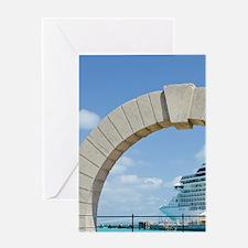 Bermuda. Moon gate at cruise termina Greeting Card