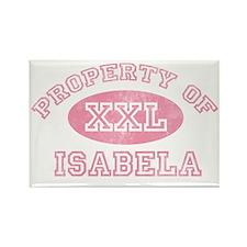 Property-of-Isabela Rectangle Magnet