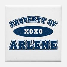 """Property of Arlene"" Tile Coaster"