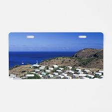 Caribbean, Montserrat, Davy Aluminum License Plate