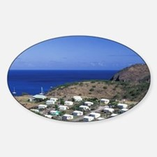 Caribbean, Montserrat, Davy Hill. N Sticker (Oval)