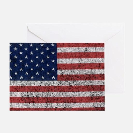 distressed-us-flag Greeting Card