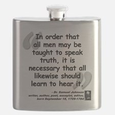 Johnson Truth Quote Flask