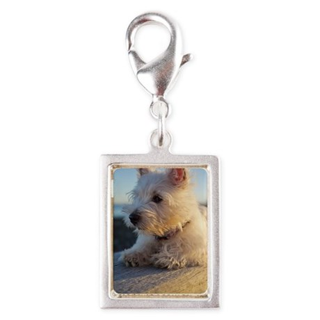 West Highland Terrier puppy Silver Portrait Charm