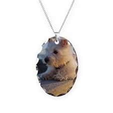 West Highland Terrier puppy on Necklace
