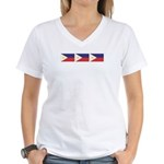 Philippine Flags Women's V-Neck T-Shirt