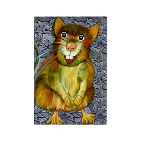 Laughing Rat Rectangle Magnet