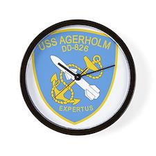 DD-826 A USS AGERHOLM Destroyer Ship Mi Wall Clock