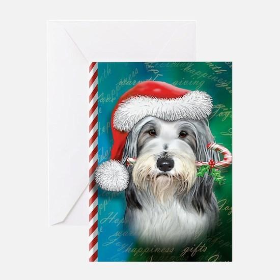 Bearded Collie-santa -journal Greeting Card
