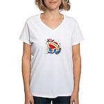 vegan tattoo Women's V-Neck T-Shirt