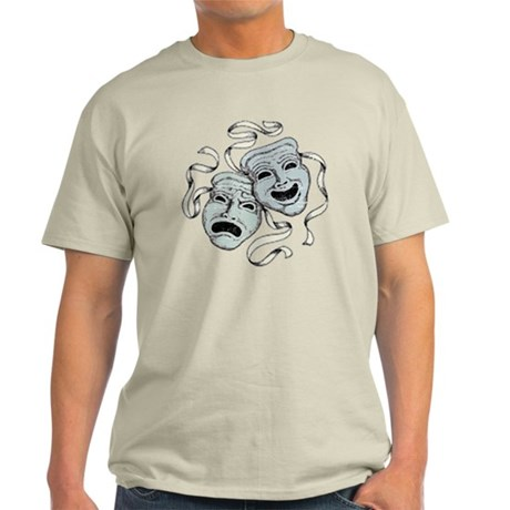 Vintage Comedy Tragedy Mask Light T-Shirt