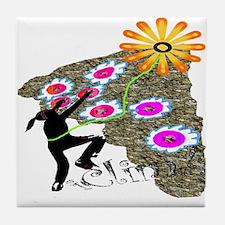 Flower Climber Tile Coaster