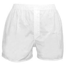 I Believe Cross White Distressed Boxer Shorts