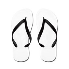 I Believe Cross White Distressed Flip Flops