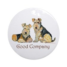 Lakeland Terriers - Good Comp Ornament (Round)