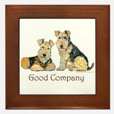 Lakeland Terriers - Good Comp Framed Tile