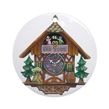 Cuckoo Clock Round Ornament