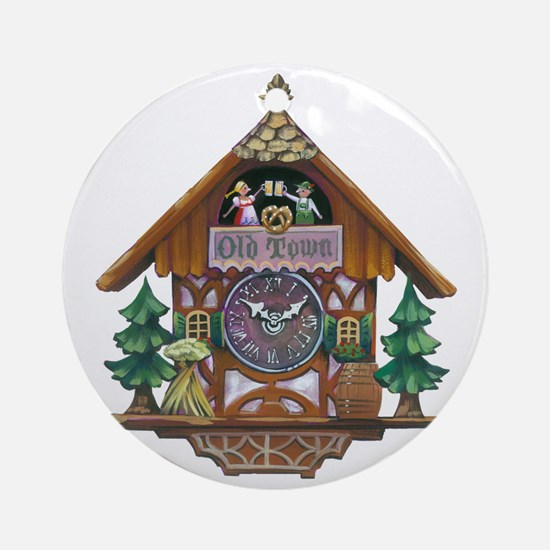 Cuckoo Clock Round Ornament