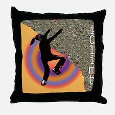 Young Girl Rock Climber Throw Pillow