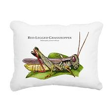 Red-Legged Grasshopper Rectangular Canvas Pillow