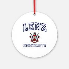 LENZ University Ornament (Round)