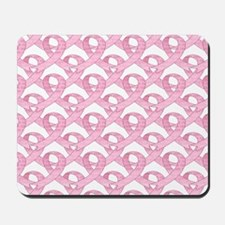 BCPinkRibCureTrLaptop Mousepad