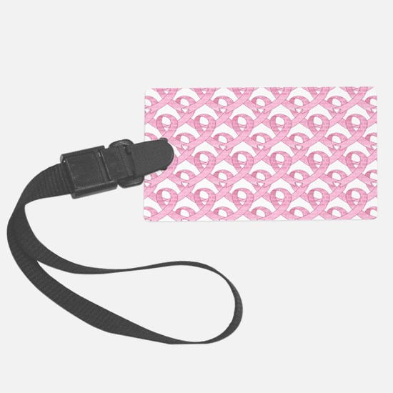 BCPinkRibCureTrLaptop Luggage Tag