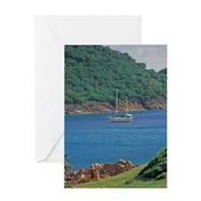 Caribbean, Antigua, Old road bluff Greeting Card