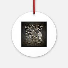 absconde fat sq Round Ornament