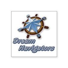 "Dream Navigators Logo and T Square Sticker 3"" x 3"""