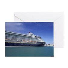 St. John's. Town view and cruiseship Greeting Card