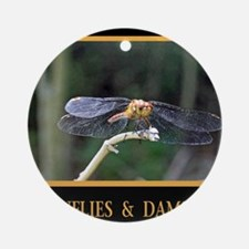 Dragonfly and Damselfly image Round Ornament