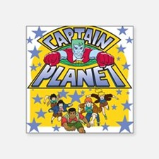 "captainplanetone Square Sticker 3"" x 3"""