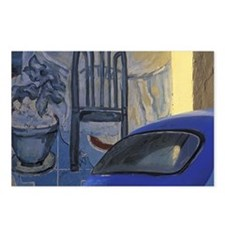 Havana. Hand-painted blue Postcards (Package of 8)