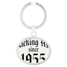 Kicking Ass Since 1955 Oval Keychain