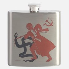 Death To Fascism WW2 Red Army Flask