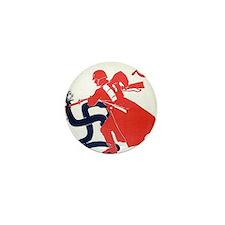 Death To Fascism WW2 Red Army Mini Button