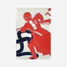 Death To Fascism WW2 Red Army Rectangle Magnet