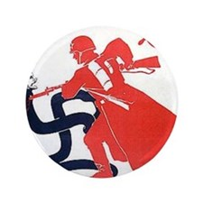 "Death To Fascism WW2 Red Army 3.5"" Button"