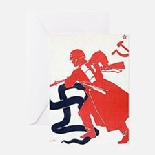 Death To Fascism WW2 Red Army Greeting Card