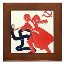 Death To Fascism WW2 Red Army Framed Tile