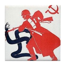Death To Fascism WW2 Red Army Tile Coaster