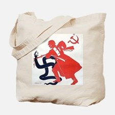 Death To Fascism WW2 Red Army Tote Bag